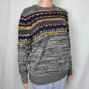 Urban Pipeline Grey Fair Isle Sweater